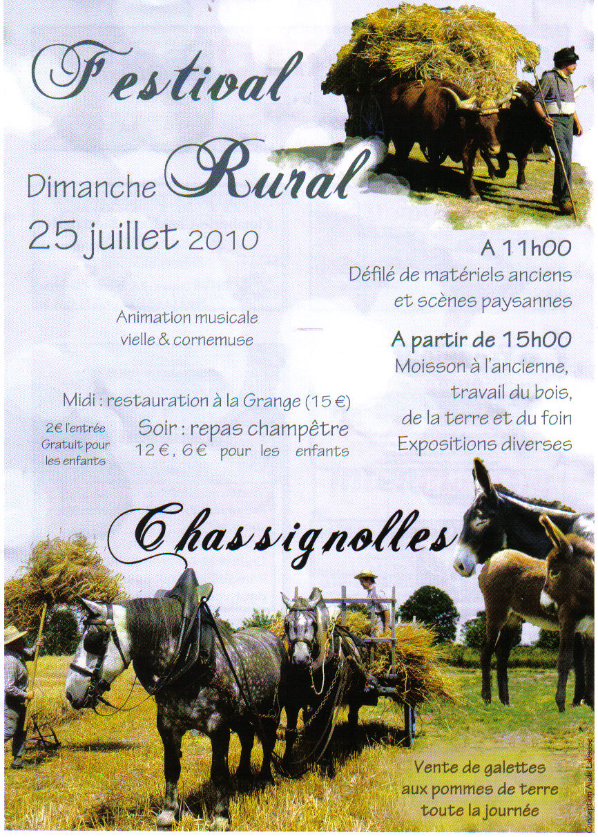 Festival rural de CHASSIGNOLLES